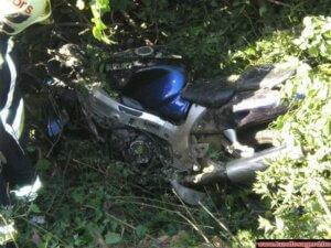 balesetem motorral